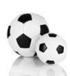 Soccer balls isolated on white
