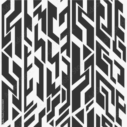 monochrome ancient seamless pattern