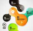 Modern minimal circles infographics