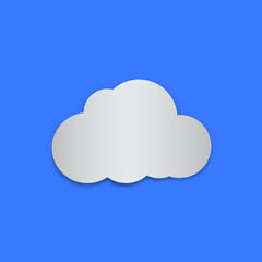 Paper cloud. vector