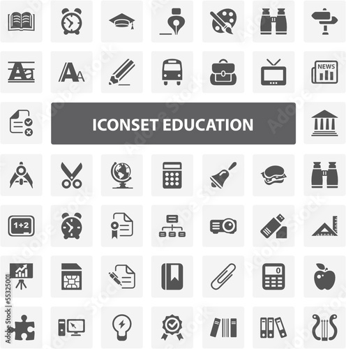 Website Iconset - Education 44 Basic Icons