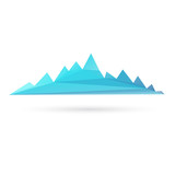 Mountain range abstract isolated on a white background