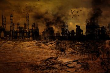 Hintergrund - Zerstörte Stadt