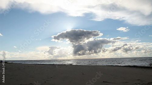 seascape, sunset, clouds.
