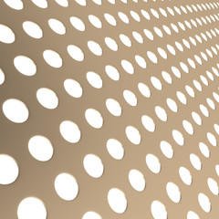 Perforated metal surface background