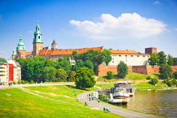 Beautiful medieval Wawel Castle, Cracow, Poland