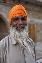 India, Rajasthan, Pushkar, indian Sadhu in an hindu temple