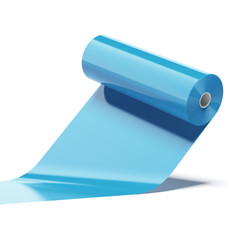 Blue Color plastic roll