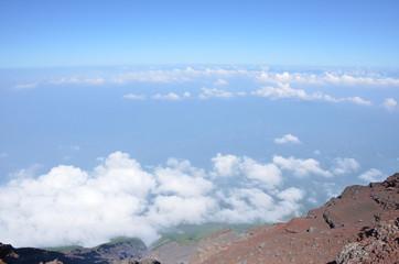 富士山頂上からの景色