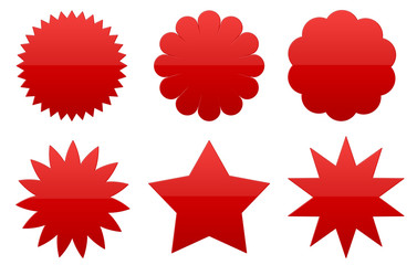 Badget, Sterne, rot