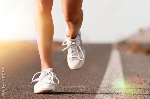 canvas print picture Joggen
