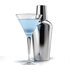 Cocktail shaker and cocktail