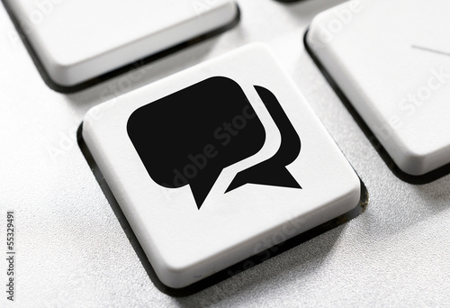 Chat button on the keyboard