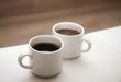 canvas print picture - two cups of coffee