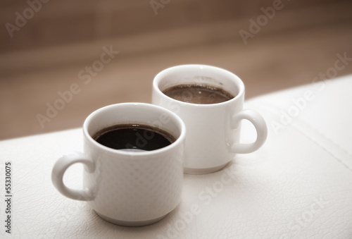 canvas print picture two cups of coffee