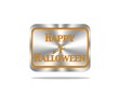 Happy Halloween button.