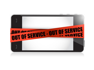 phone out of service. illustration concept design