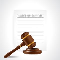 termination of employment documents. illustration