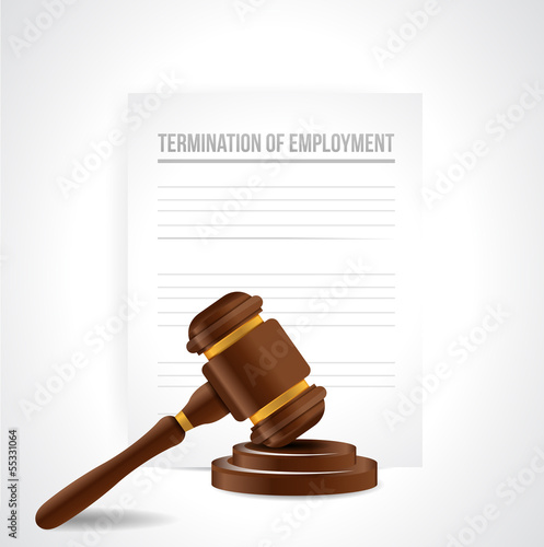termination of employment documents. illustration