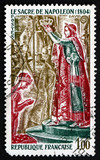 Postage stamp France 1973 The Coronation of Napoleon, Detail