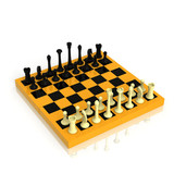 Chess board with a full set of figures