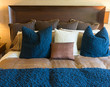 Bed bedding in a home or business hotel