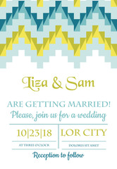 Wedding Vintage Invitation - for design, scrapbook - in vector