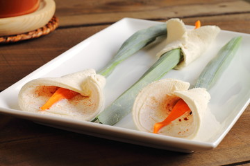 Calla lily sandwiches for bridal lunches, buffets or parties