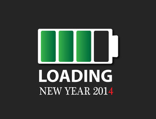 2014 new year battery charge icon