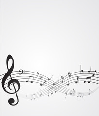 abstract background music notes