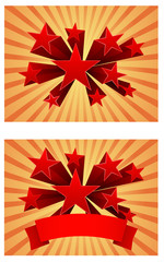 3d star burst abstract background