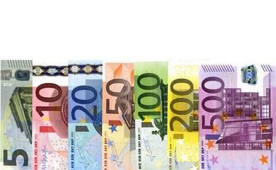 Euroscheine Reihe