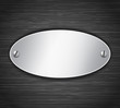 Metallic oval tablet