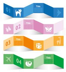 Infografica esempi fasce colorate numeri nastro