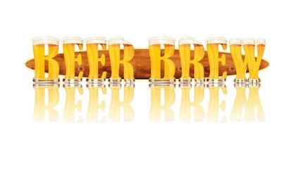 BEER ALPHABET letters BEER BREW
