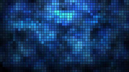 Abstract illuminated wall mosaic background.