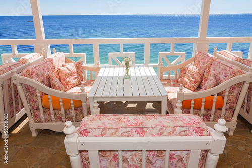 sofa by the sea