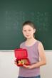 Schulkind mit Brotzeitbox