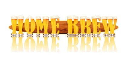 BEER ALPHABET letters HOME BREW