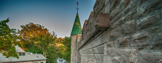 Wonderful medieval architecture of Quebec City, Canada