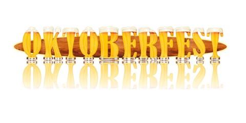 BEER ALPHABET letters OKTOBERFEST
