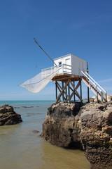 Cabane de pêcheurs sur la côte atlantique