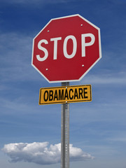 stop obamacare ahead conceptual post