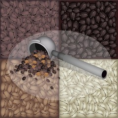 Filter for Coffee Machine With Coffee Bean Background