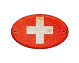 Wooden sign of Switzerland.