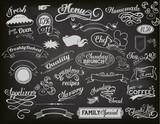 Fototapety Chalkboard Ads