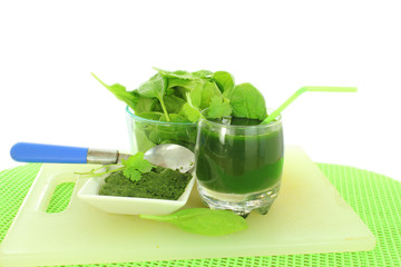 spinach juice spinach puree and  spinch
