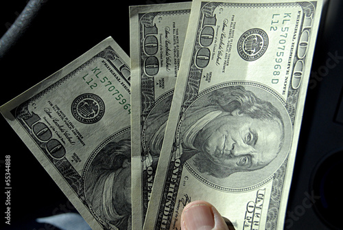 IDAHO STATE/USA _USA ECONOMY one hundred dollar bills