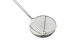 Chrome sieve or colander the kitchenware utensil accessory