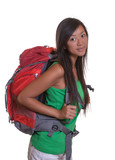 Young backpacker from asia